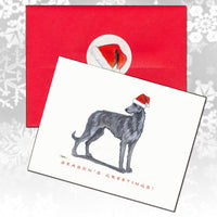 Scottish Deerhound Christmas Note Cards