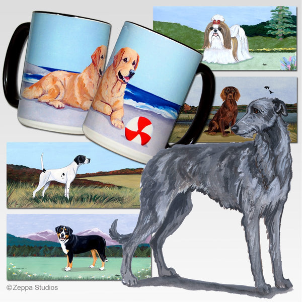 Scottish Deerhound Scenic Mug