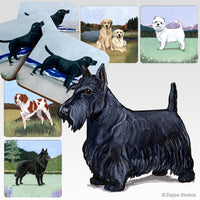 Scottish Terrier Scenic Coaster