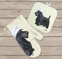 Scottish Terrier Oven Mitt and Pot Holder
