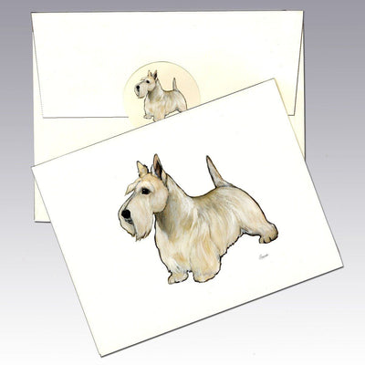Scottish Terrier, Wheaten Note Cards