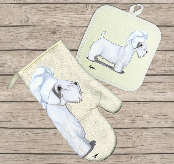 Sealyham Terrier Oven Mitt and Pot Holder