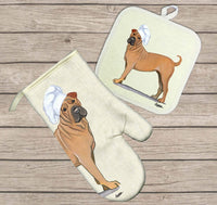 Chinese Shar-Pei Oven Mitt and Pot Holder