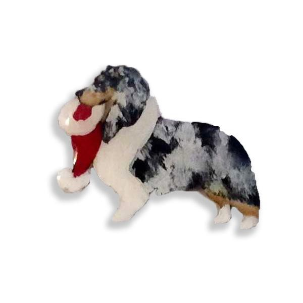 Shetland Sheepdog Hand-Painted Holiday Pin