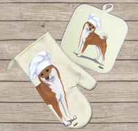 Shiba Inu Oven Mitt and Pot Holder