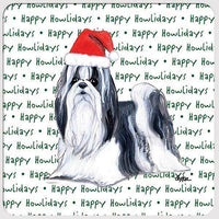 "Shih Tzu ""Happy Howlidays"" Coaster"
