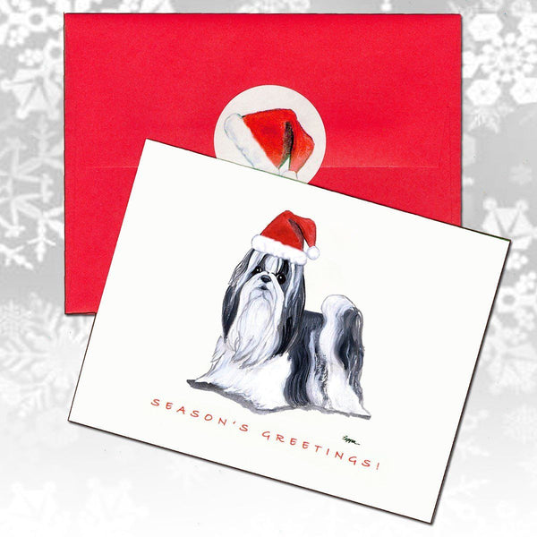 Shih Tzu Christmas Note Cards