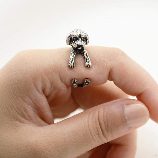 Shih Tzu Wrap Ring