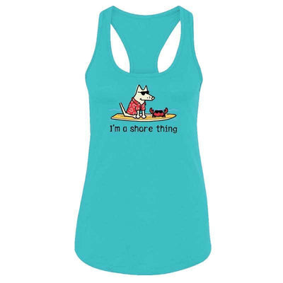 I'm A Shore Thing - Ladies Racer Back Tank Top