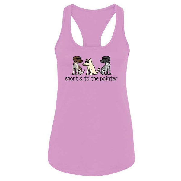 Short and to the Pointer - Ladies Racer Back Tank Top
