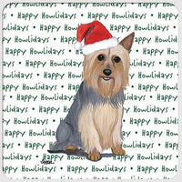"Silky Terrier ""Happy Howlidays"" Coaster"