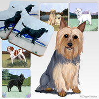 Silky Terrier Scenic Coaster