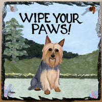 Silky Terrier Slate Sign