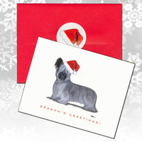 Skye Terrier Christmas Note Cards