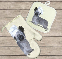 Skye Terrier Oven Mitt and Pot Holder