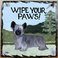 Skye Terrier Slate Sign