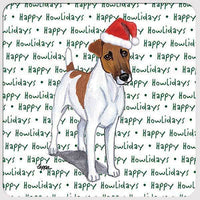 "Smooth Fox Terrier ""Happy Howlidays"" Coaster"