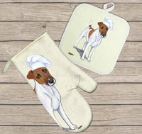Smooth Fox Terrier Oven Mitt and Pot Holder