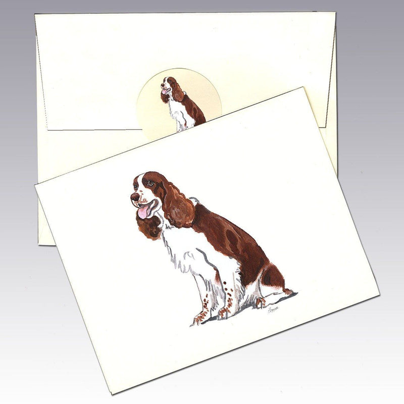 English Springer Spaniel, Liver and White Note Cards