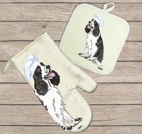 English Springer Spaniel Oven Mitt and Pot Holder