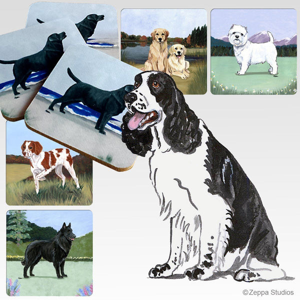 English Springer Spaniel Scenic Coaster