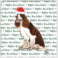 "English Springer Spaniel, Liver and White ""Happy Howlidays"" Coaster"