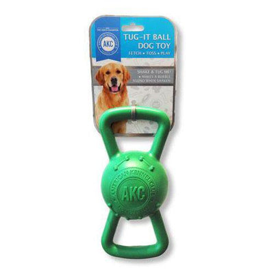 AKC Squeak and Tug Rubber Toy