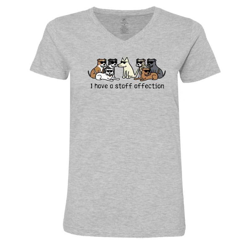 I Have A Staff Affection - Ladies T-Shirt V-Neck