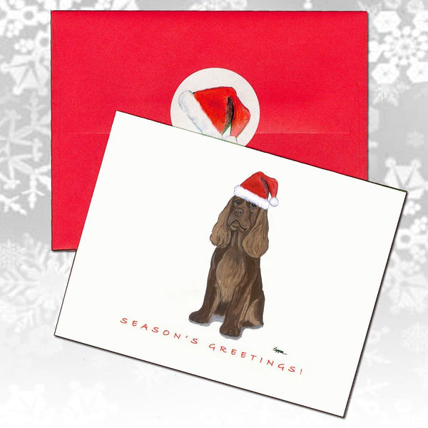 Sussex Spaniel Christmas Note Cards