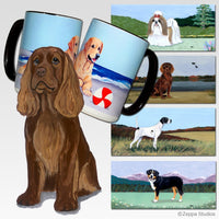 Sussex Spaniel Scenic Coaster