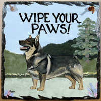 Swedish Vallhund Slate Sign