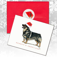 Swedish Vallhund Christmas Note Cards