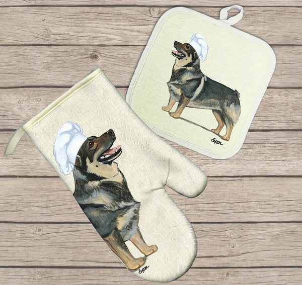 Swedish Vallhund Oven Mitt and Pot Holder