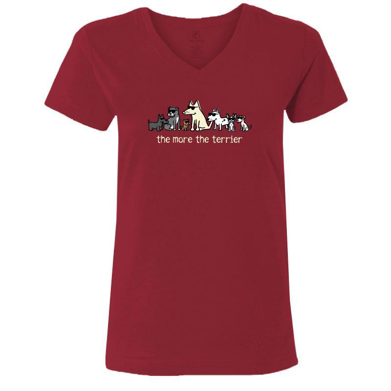 The More the Terrier Ladies V-Neck Tee