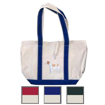 Hand-Painted Dog Breed Tote Bag - Terrier Group