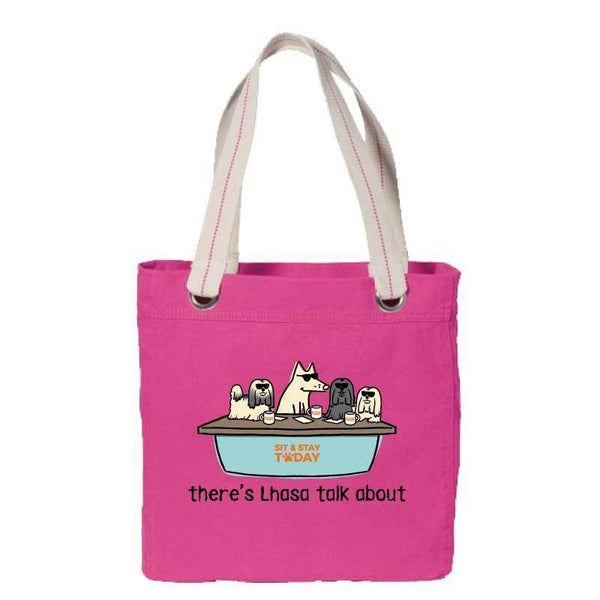 There's Lhasa Talk About - Canvas Tote