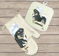 Tibetan Spaniel Oven Mitt and Pot Holder