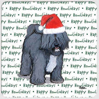 "Tibetan Terrier ""Happy Howlidays"" Coaster"