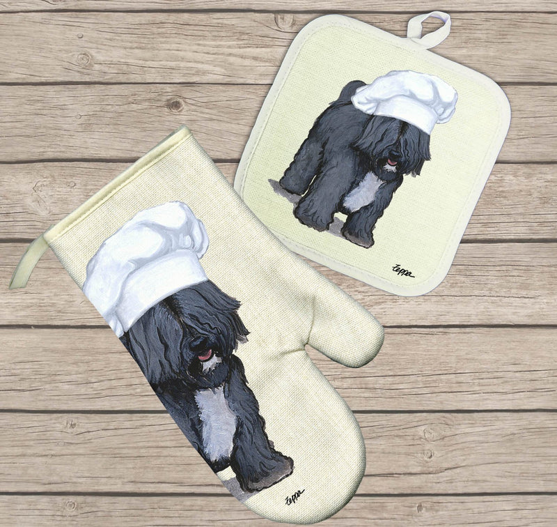 Tibetan Terrier Oven Mitt and Pot Holder