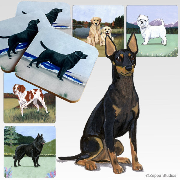 Toy Manchester Terrier Scenic Coaster