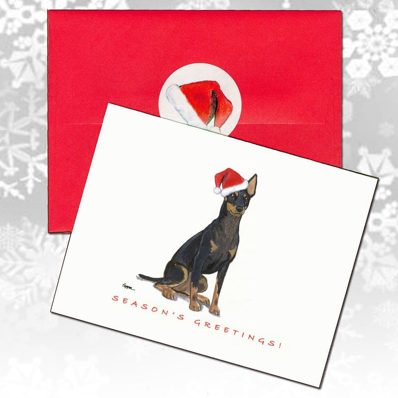 Toy Manchester Terrier Christmas Note Cards