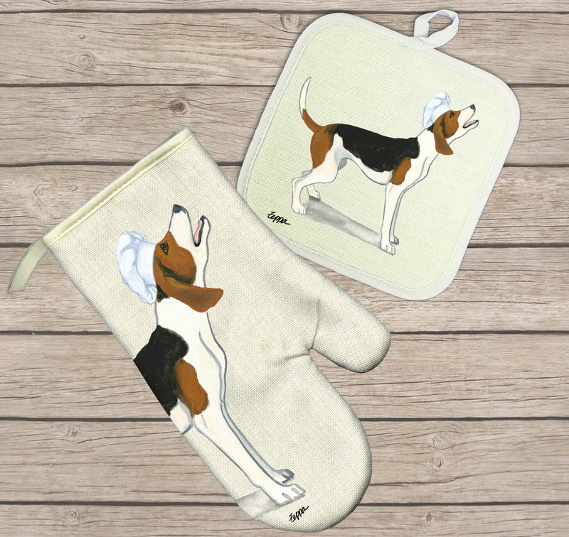 Treeing Walker Coonhound Oven Mitt and Pot Holder