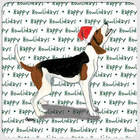 "Treeing Walker Coonhound ""Happy Howlidays"" Coaster"