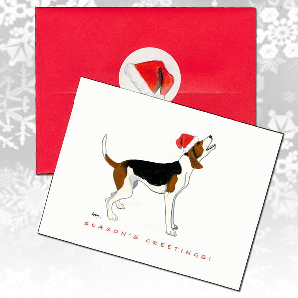 Treeing Walker Coonhound Christmas Note Cards