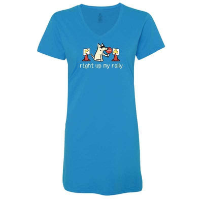 Right Up My Rally - Ladies Night T-Shirt
