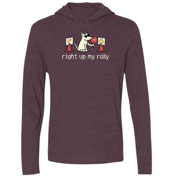 Right Up My Rally - Long Sleeve  Hoodie