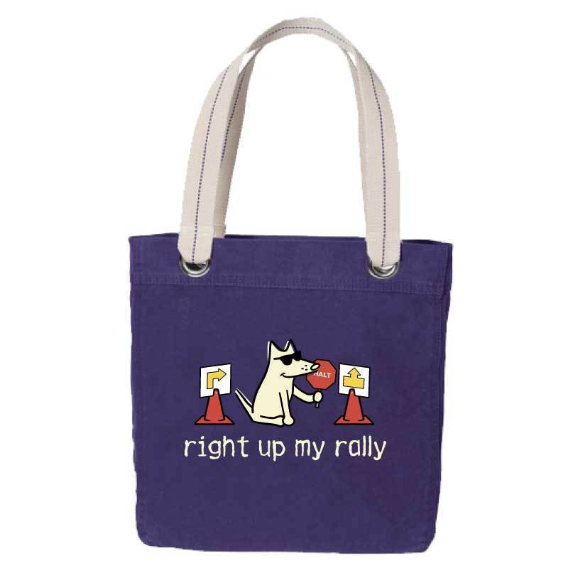 Right Up My Rally - Canvas Tote