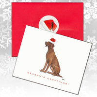 Vizsla Christmas Note Cards