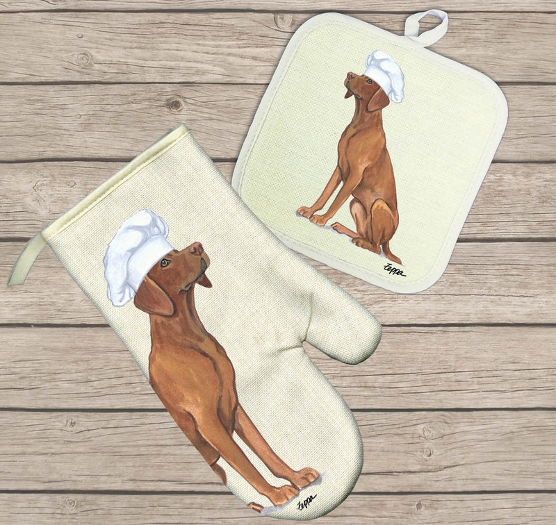 Vizsla Oven Mitt and Pot Holder