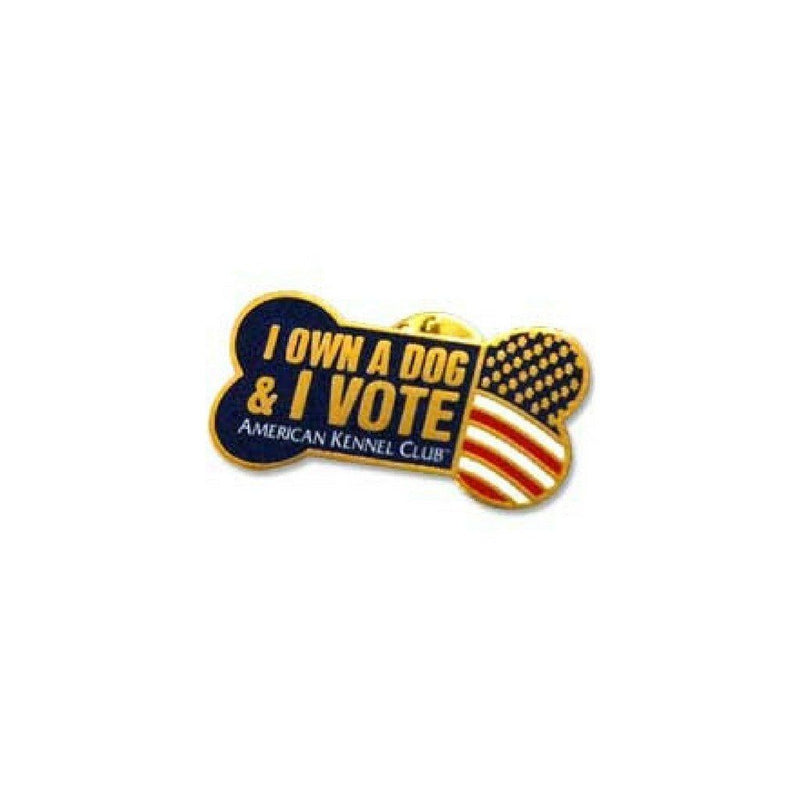 I Own A Dog & I Vote Pin